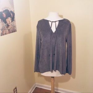 Like new faux suede Dylan top